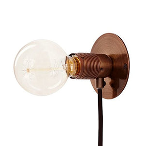 Wall Light Industrial Style Lamp Black Cable Bronze Base