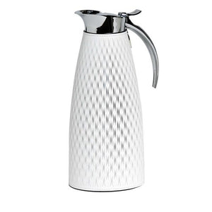 Pinetti White Leather Thermal Carafe 1l