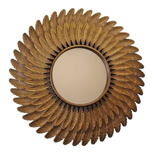 Bronze Effect Feather Frame Mirror