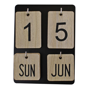 Wooden Freestanding Photo Frame Style Perpetual Calendar