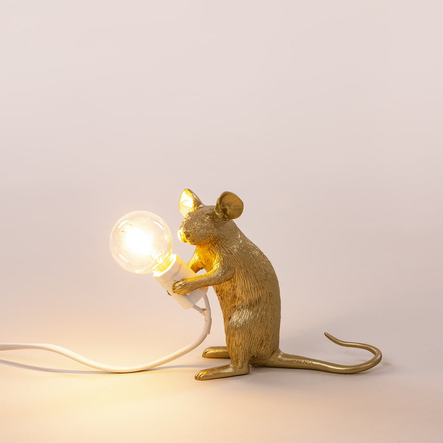 seletti gold mouse lamp