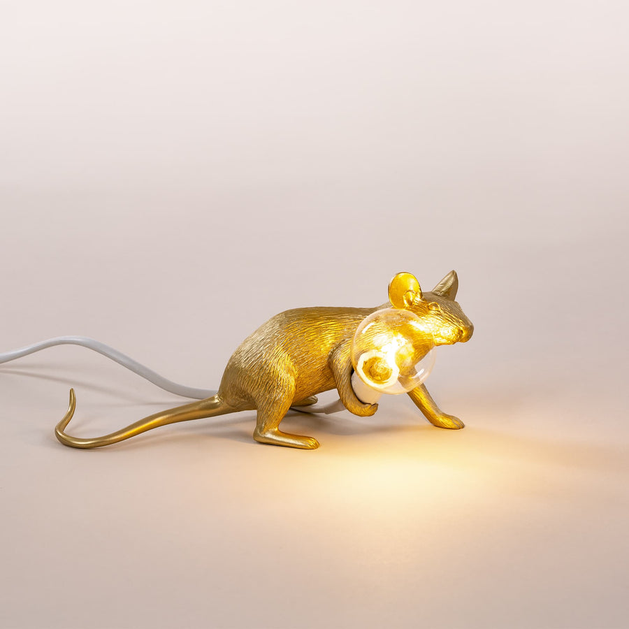 seletti mouse gold laying