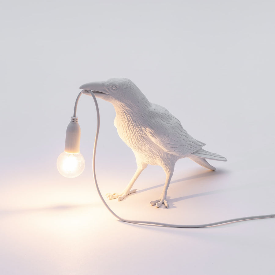 seletti bird lamp white