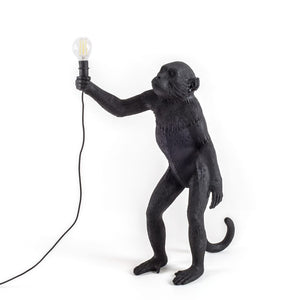 Monkey Lamp Standing Black Outdoor