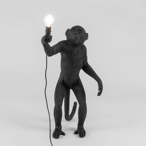 Seletti Monkey Lamp Standing Black Outdoor
