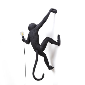 Monkey Lamp Hanging Right Hand Black (Indoor/Outdoor)