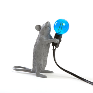 Mouse Lamp Standing Grey
