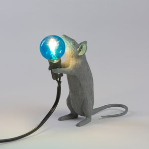 Seletti Mouse Lamp Standing Grey