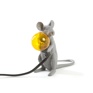 Mouse Lamp Grey Sitting
