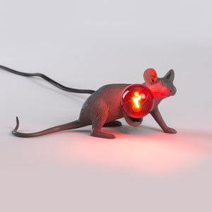 grey mouse lamp laying down