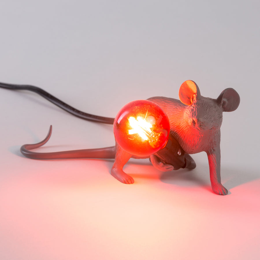 seletti mice lamp grey sitting