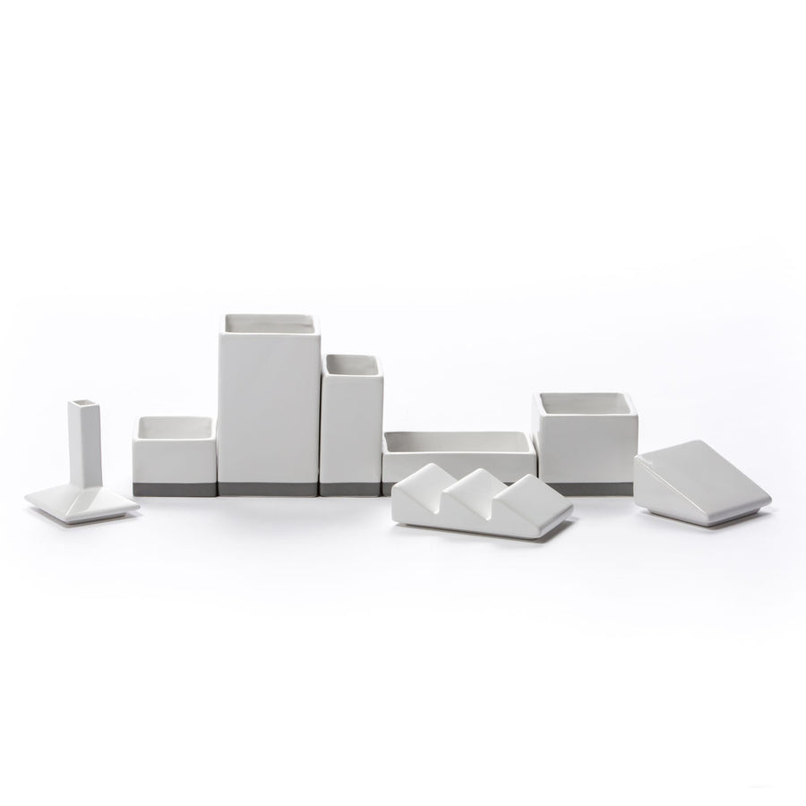 """Desktructure-The Warehouse"" Porcelain Organizer Set CM 33X6,5  H 11"