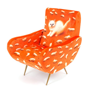 "Armchair Upholstered ""Kitten"" Toiletpaper"
