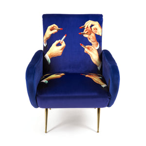 "Armchair Upholstered ""Lipsticks"" Toiletpaper"