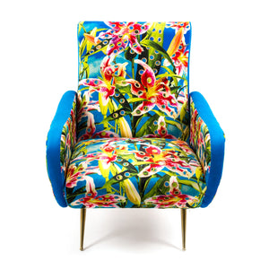 "Armchair Upholstered ""Flowers"" Toiletpaper"