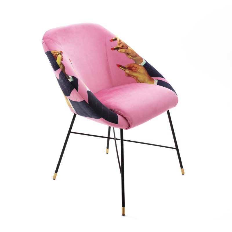 Seletti Padded Chair Lipsticks Pink