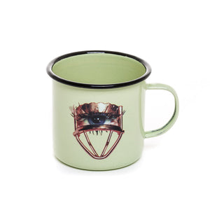"""Toiletpaper"" Eye Mug Metal Enameled"