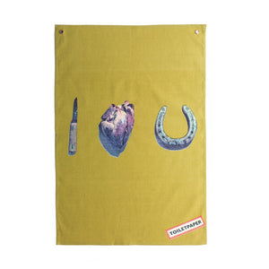"Seletti ""Toiletpaper"" I Love You Teatowel"
