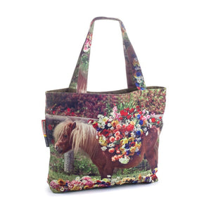 "Pony Tote Bag Polyester ""Toiletpaper"""