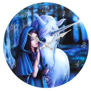 Solace Unicorn Glass Wall Clock