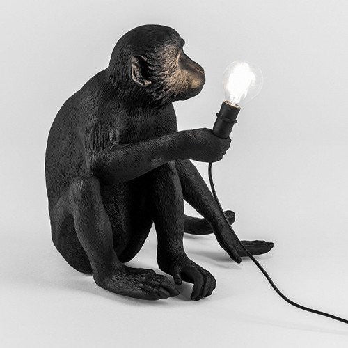 """MONKEY LAMP"" Sitting Black"