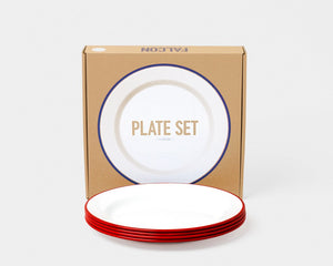 falcon red plates set of 4 with box