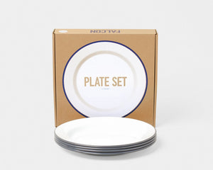 falcon plates pigeon grey set