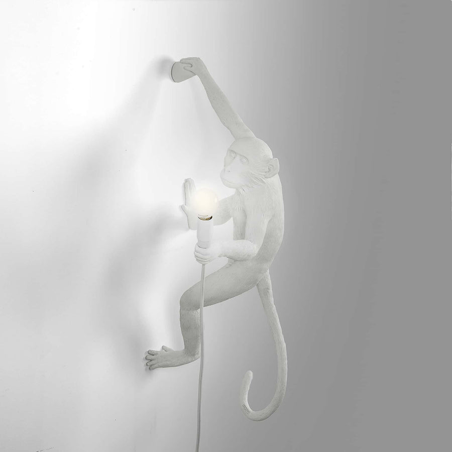 Seletti Monkey Lamp Hanging Right White