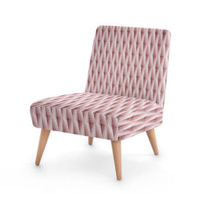 Pink Diamond Accent Occasional Chair