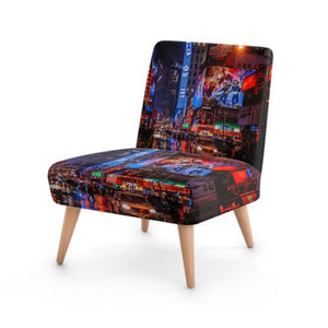 Modern City Scene Accent Occasional Chair