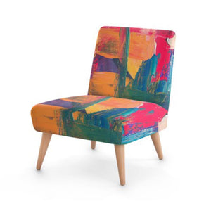 Abstract Colour Accent Occasional Chair