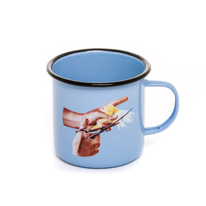 """Toiletpaper"" Bird Mug Metal Enameled"