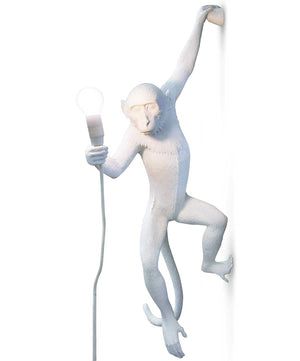 seletti hanging monkey lamp white
