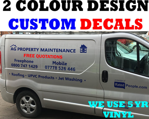 MEDIUM SIZE VEHICLE SIGN VINYL (2 x colours)