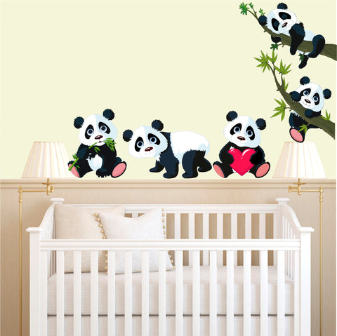 Cute Pandas in 5 x different designs and 3 x great sizes