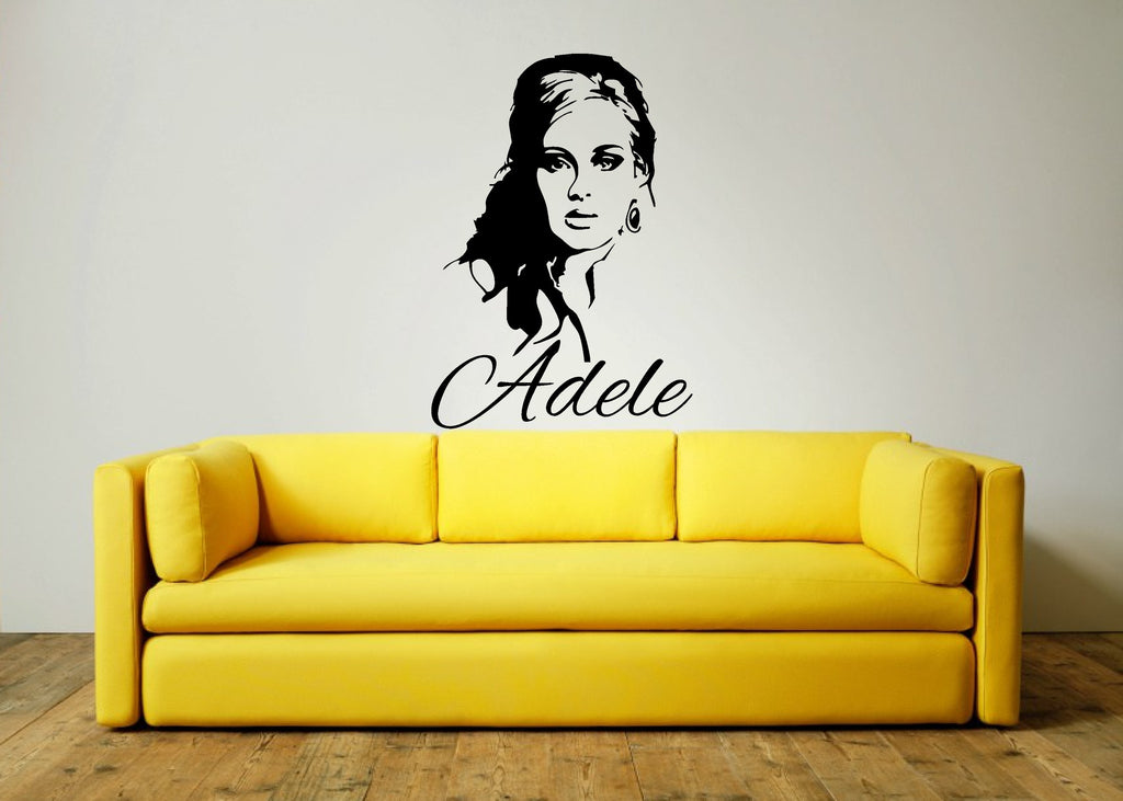 Adele Wall Art Sticker - and text