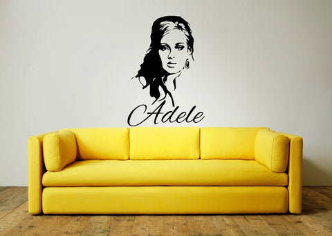 Adele & Decorative Text Wall Art Sticker
