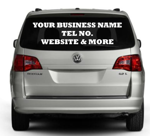Car Vehicle Vinyl Signs Decals And Stickers Personalised - Personalised car window stickers