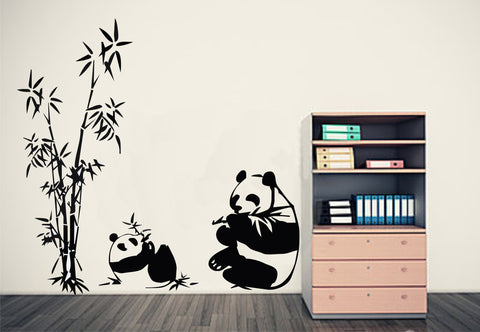 Bamboo Wall Art & 2 Pandas