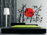 Bamboo and Rising Sun Wall Sticker