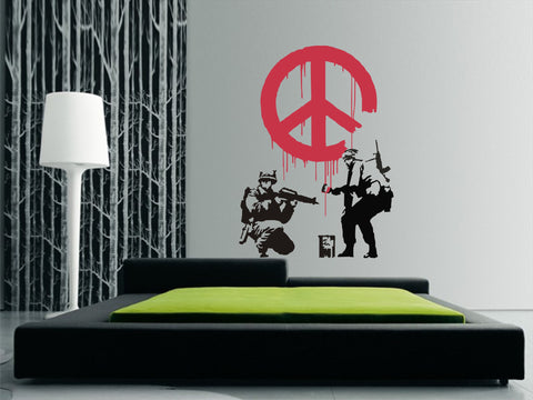 CND Soldiers ~ Banksy Wall Art