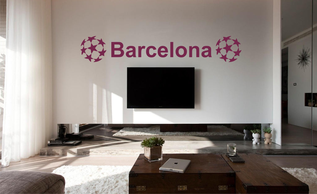 Barcelona football wall art sticker