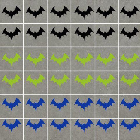 Bat Stickers (ideal for tiles, glass, ceramics, any flat surface)