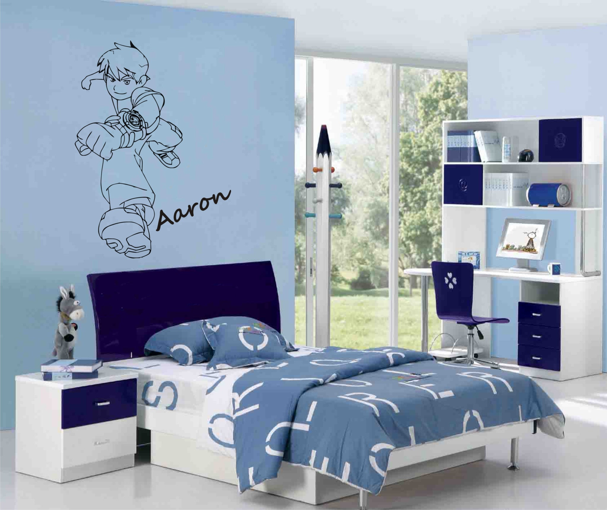 Ben 10 Wall Art Sticker Personalised With Any Name Wall Art Shop