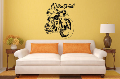 Born To Ride Motorbike wall art (67 x 55cms)