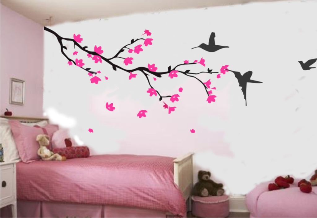 Cherry Blossom and Birds Wall Sticker