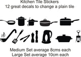 Kitchen Utensils Stickers (ideal for tiles, glass, ceramics, any flat surface)