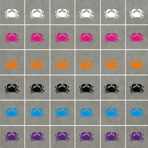 Crabs Stickers (ideal for tiles, glass, ceramics, any flat surface)