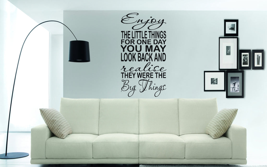 Enjoy the Little Things wall art sticker