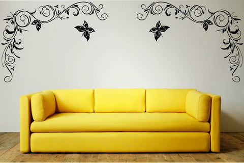 Floral Corners (c) Wall Art Stickers